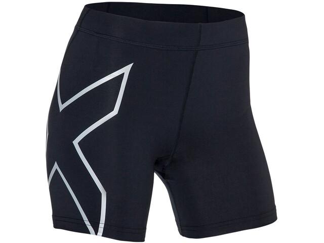 "2XU TR2 Compression 5"" Shorts Dam black/silver"